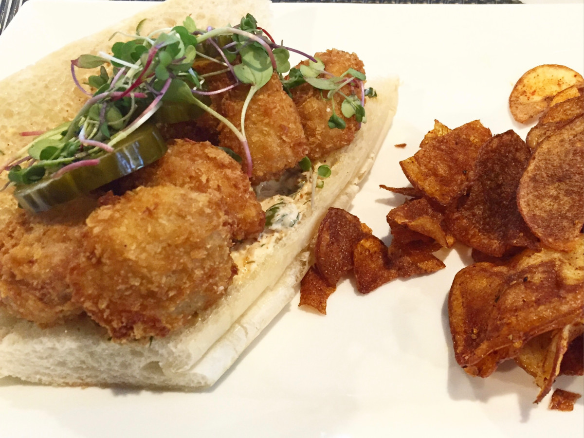 Durham House sweetbread po boy