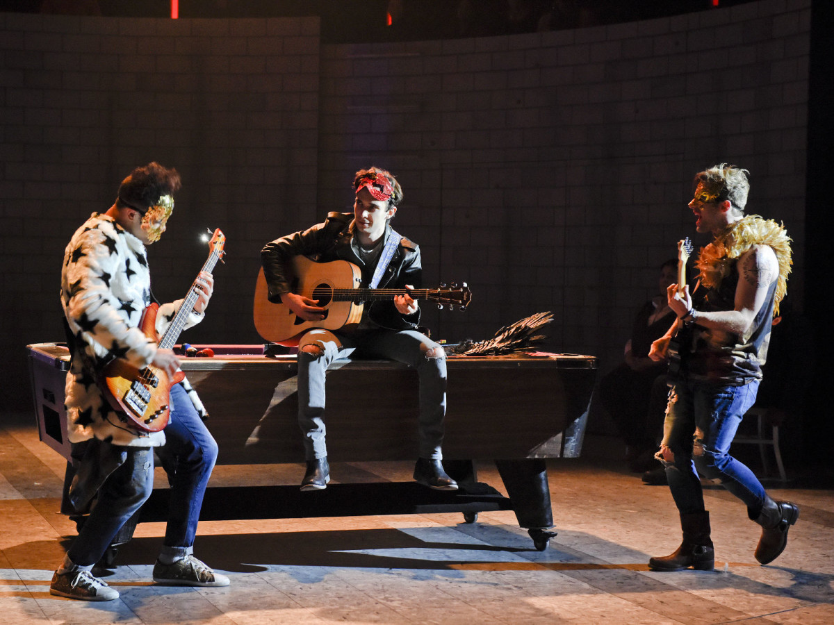 Clinton Greenspan, Jake Horowitz, and Drew Foster in Dallas Theater Center's Romeo and Juliet