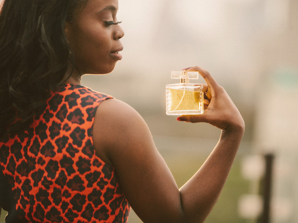 Mair Emenogu photo with fragrance 2