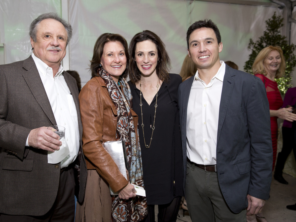 Memorial Park Conservacy Gala, Feb. 2016, Ben and Margaret Morris, Lindsay and Alex Mousoudakis