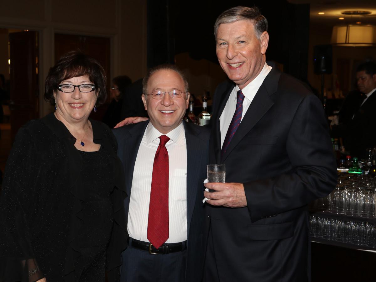 Seven Acres gala, Feb. 2016, Leslie Slatko, Malcolm Slatko, Gary Swartz
