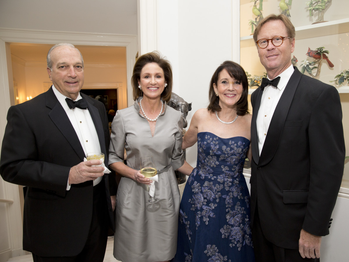 Rienzi society dinner, Feb. 2016, Ed and Cathy Frank; Jenny Elkins; Will Bowen;