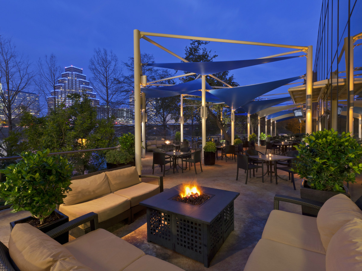 Hyatt Regency Austin downtown hotel Marker 10 Spirits & Cuisine bar patio Southwest Bistro