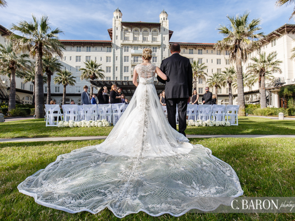 Hotel Galvez Lawn Center wedding