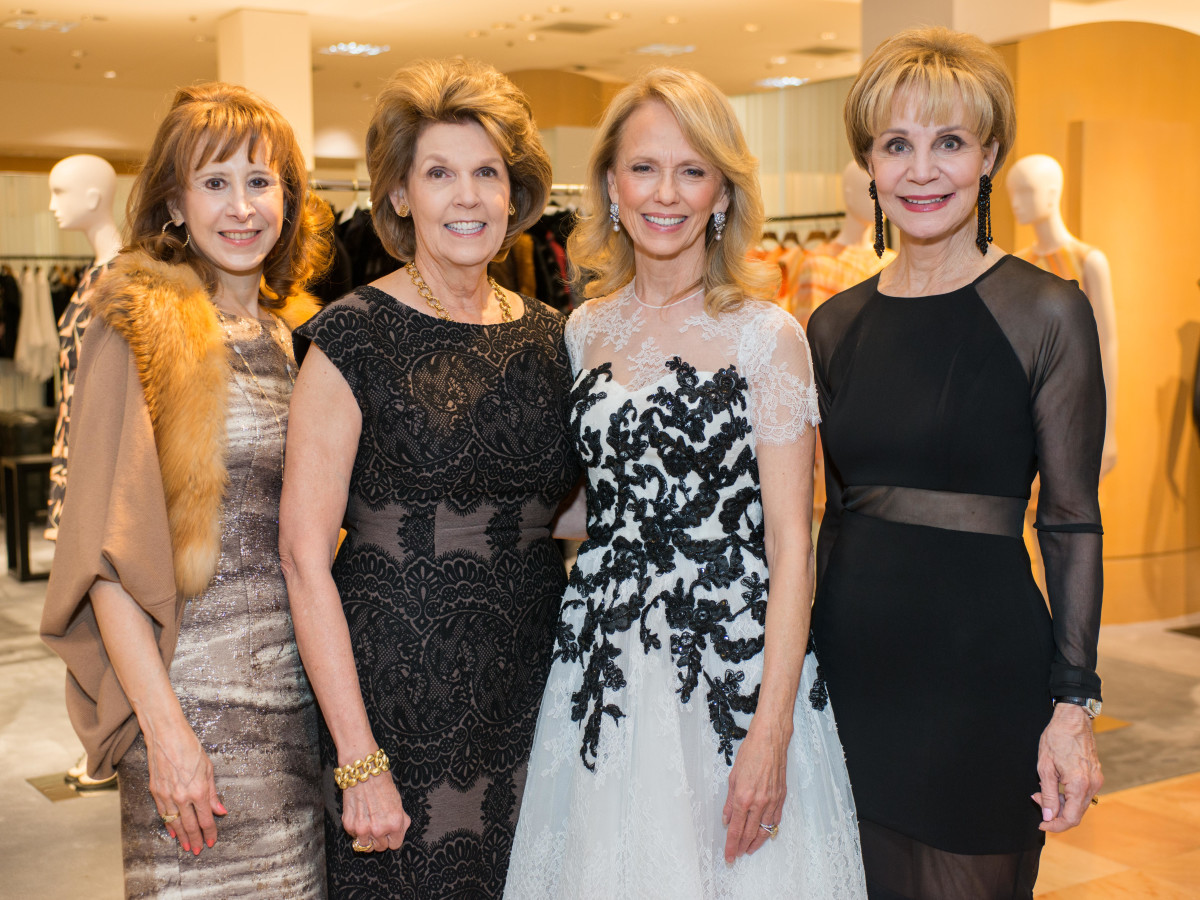 Best Dressed, Jan. 2016,  Vicki West, Lilly Andress, Susan Sarofim, Leisa Holland Nelson