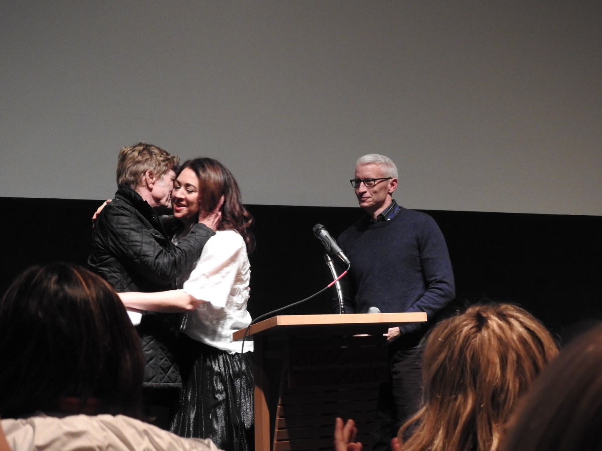 Robert Redford, Liz Garbus, Anderson Cooper, Sundance Film Festival