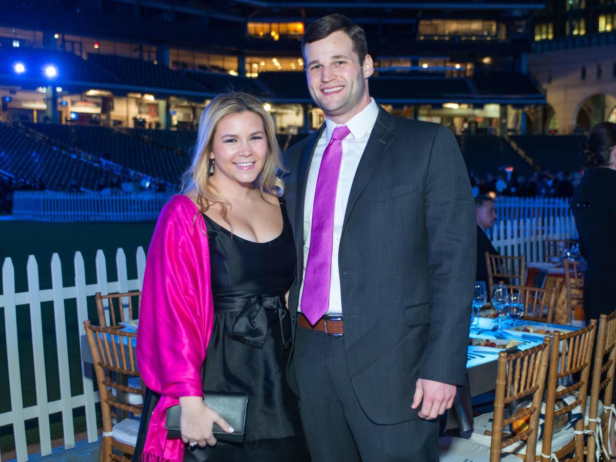 Astros Diamond Gala, Jan. 2016,  Mari Trevino, Bryan Glass