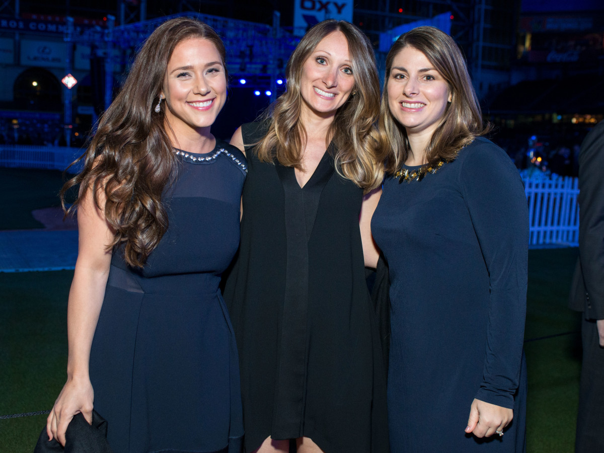 Astros Diamond Gala, Jan. 2016,  Krystal Crane Thompson, Jodi Rubenstein, Maryann Hicks