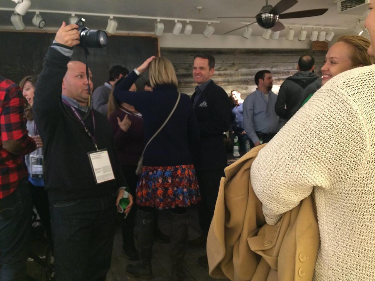Alfred Cervantes at Texas Film reception at Sundance Film Festival
