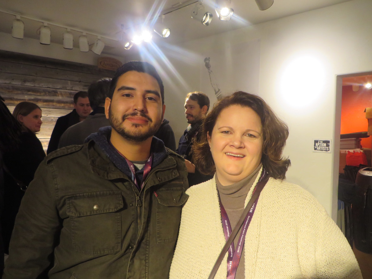 David Cortez and Michelle Mowers at Film Texas reception at Sundance Film Festival