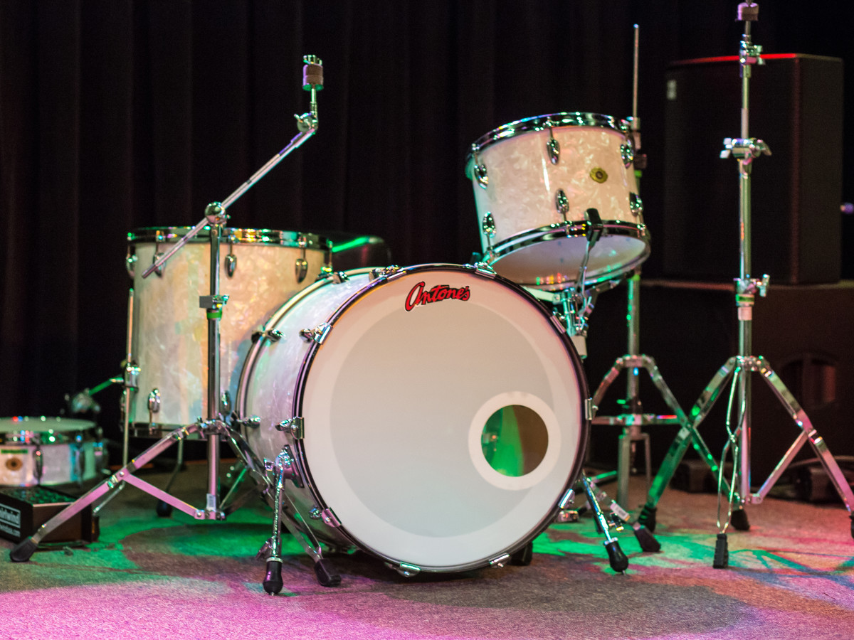 Antone's downtown venue Fifth Street 2016 drum set