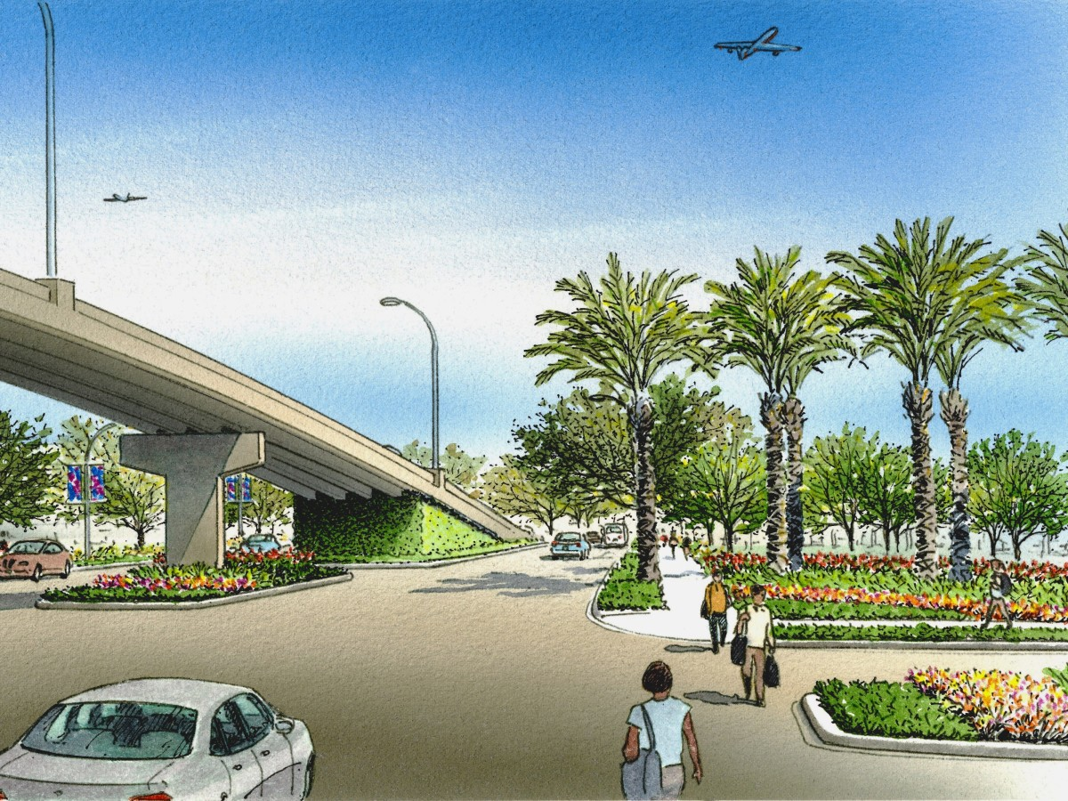 Broadway Boulevard beautification Hobby Airport Scenic Houston