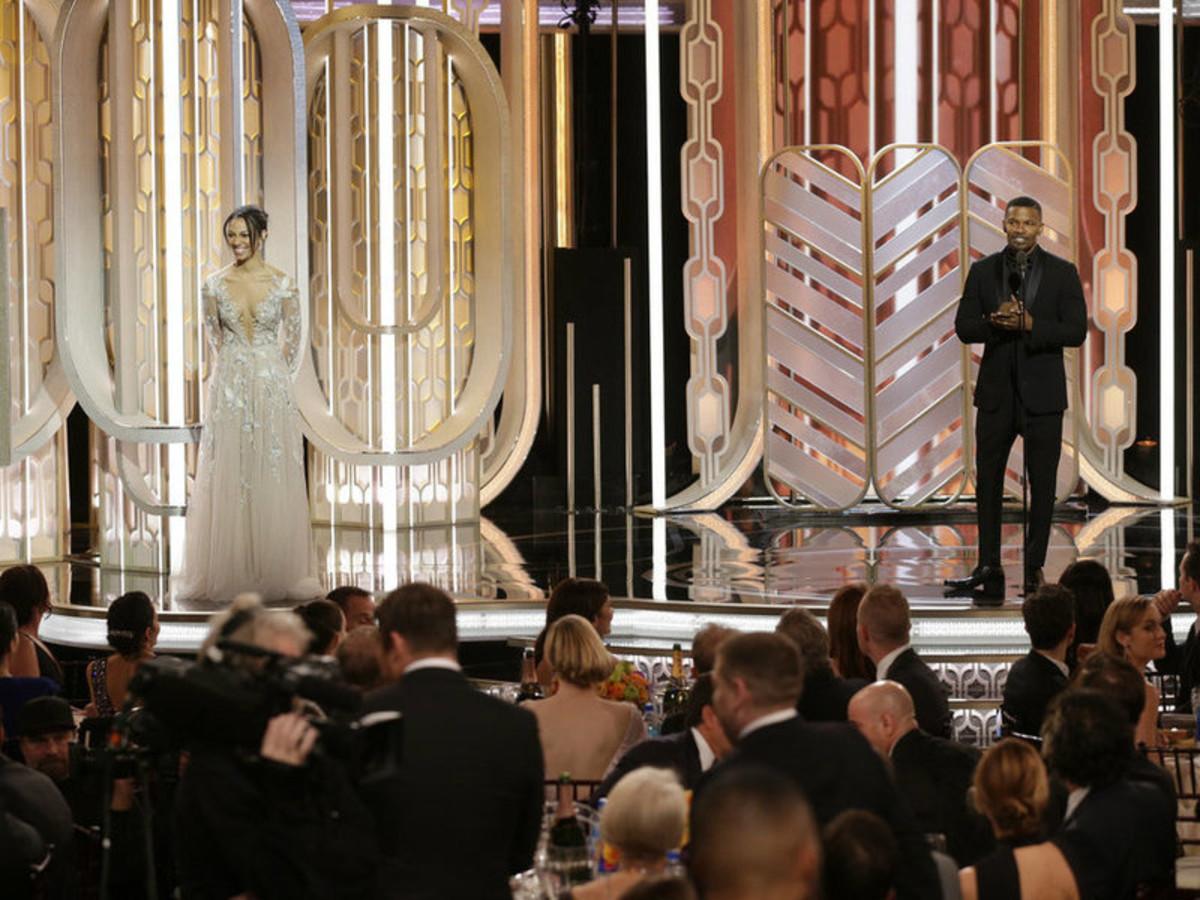 Jamie Foxx and daughter at Golden Globe Awards