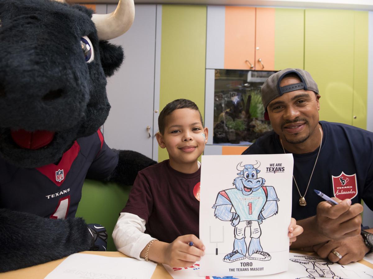 News, Texans at Texas Children's, Jan. 2016, Toro, Eric Brown