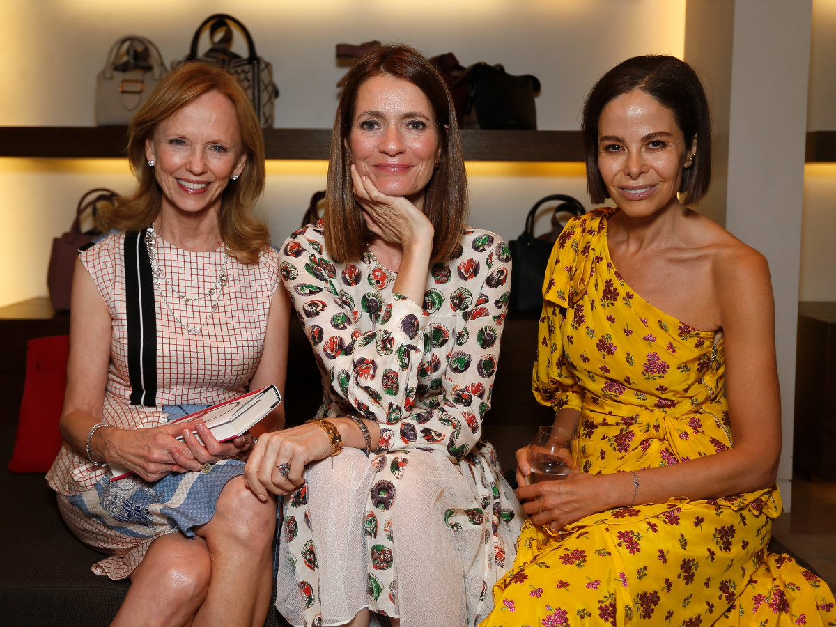 Susan Sarofim, Plum Sykes, Allison Sarofim at Burberry book party