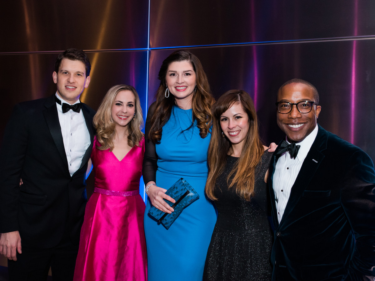 News, Houston Young Lawyers, holiday party, Dec. 2016, John and Jackie Furlow, Brittany Ringel, Veronica Montemayor, Arthur Bryan, II