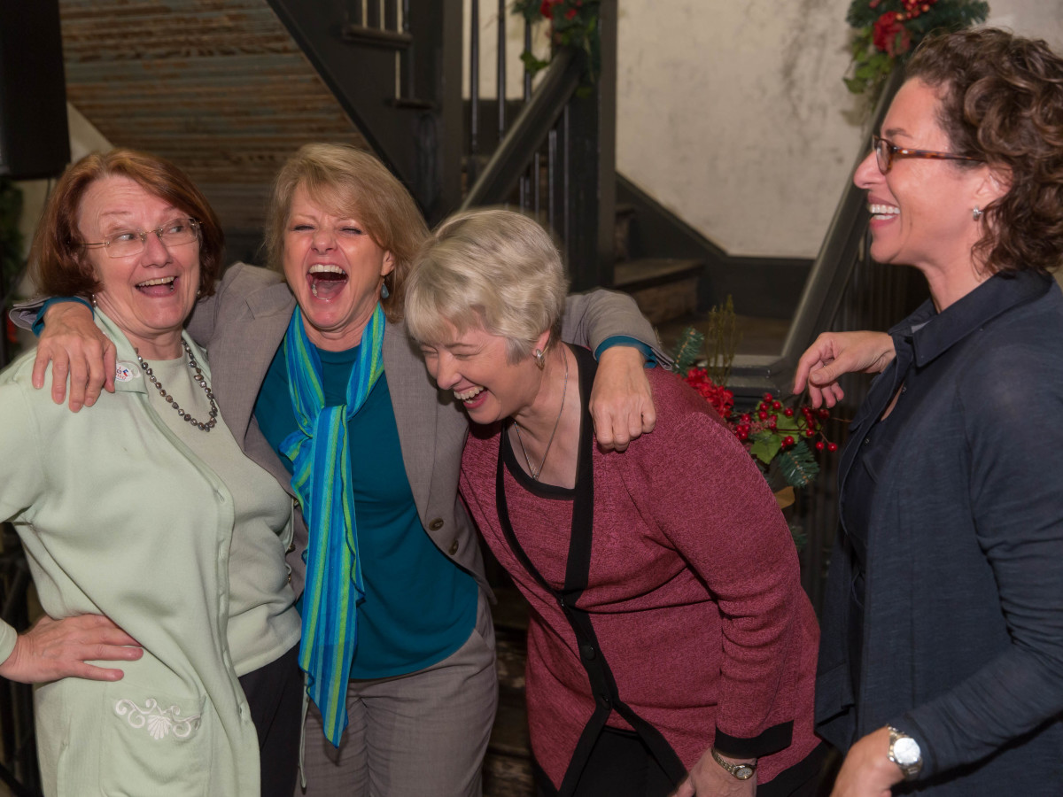 News, Shelby, Laura Spanian farewell party, Kathy Hubbard, Susan Christian, Mayor Annise Parker, Laura Spanjian