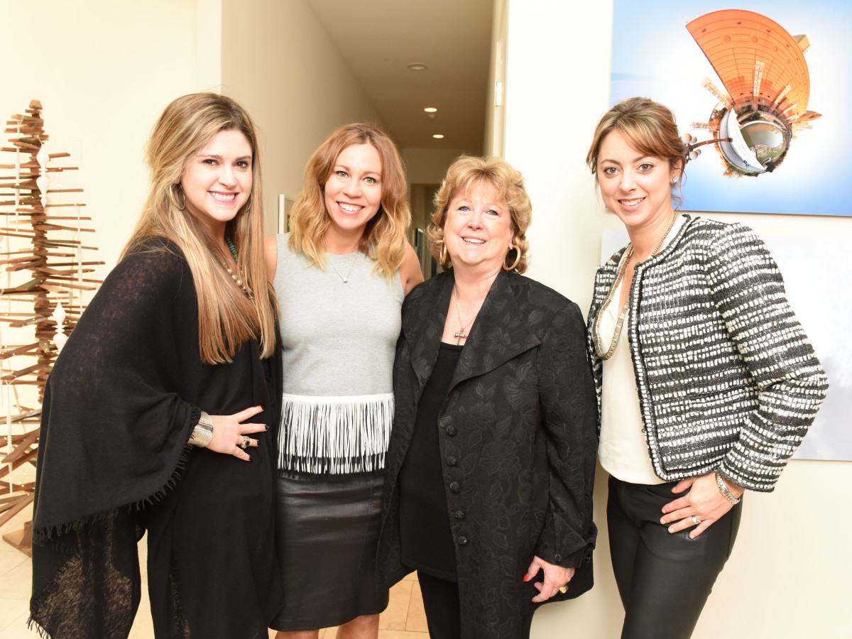 News, Children's Assessment Center tea, Dec. 2015,  Price DuBose, Allison Flikerski, Betty DuBose and Lauren Maloy