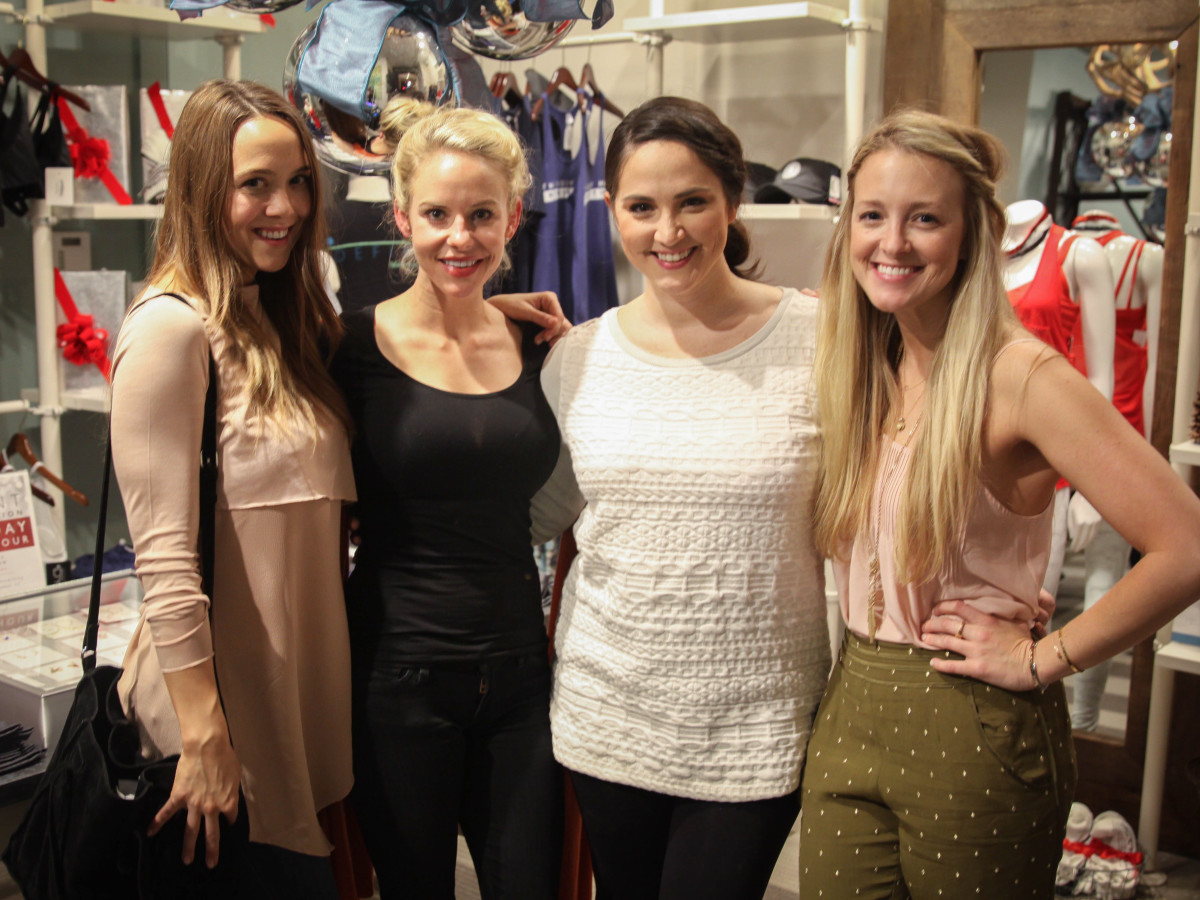 Define Body and Mind holiday soiree Cailyn Carlson, Morgan Bellows, Meredith Wierick, Laurel Chick