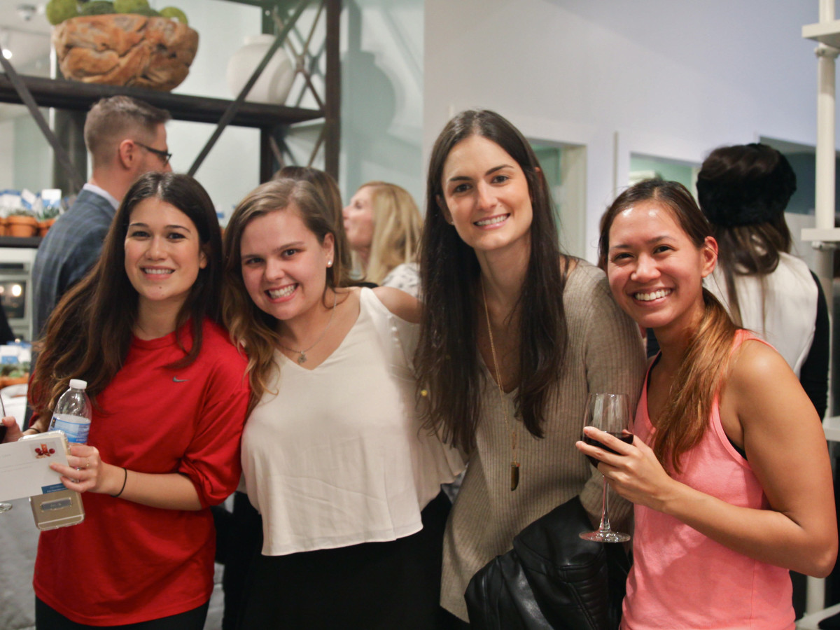 Define Body and Mind holiday soiree Betty Nguyen, Lucia Wilson, Carolina Gonzalez Loumiet, Sharon De Los Santos