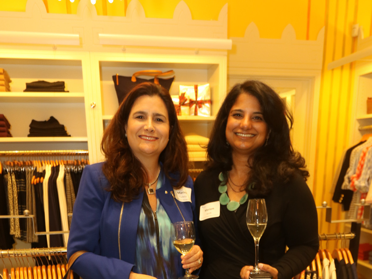 News, Ellevate Network party, Dec. 2015, Marina Tudela, Mariam Jacob
