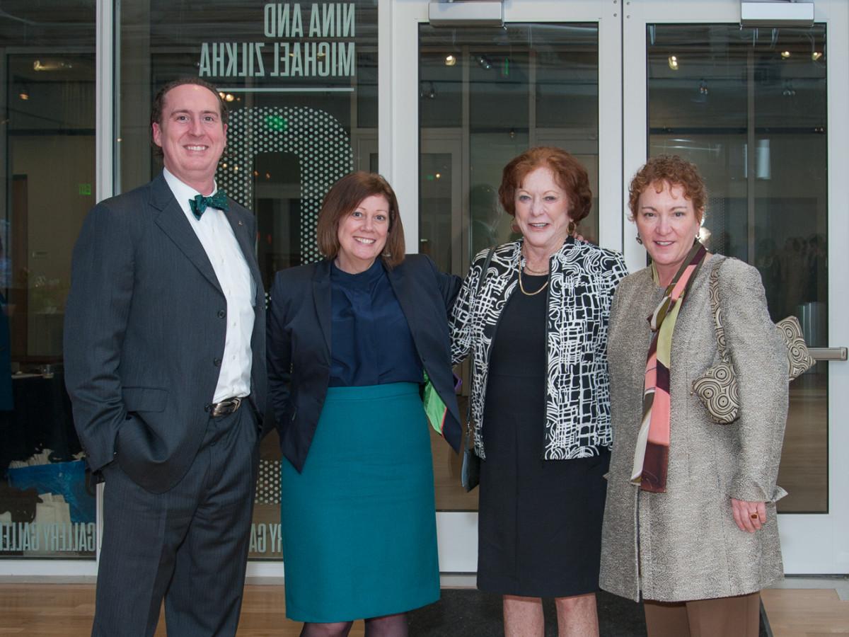 News, DiverseWorks MATCH party, Dec. 2015, Harry McMahan, Xandra Eden, Gladys Farr, Julie Farr