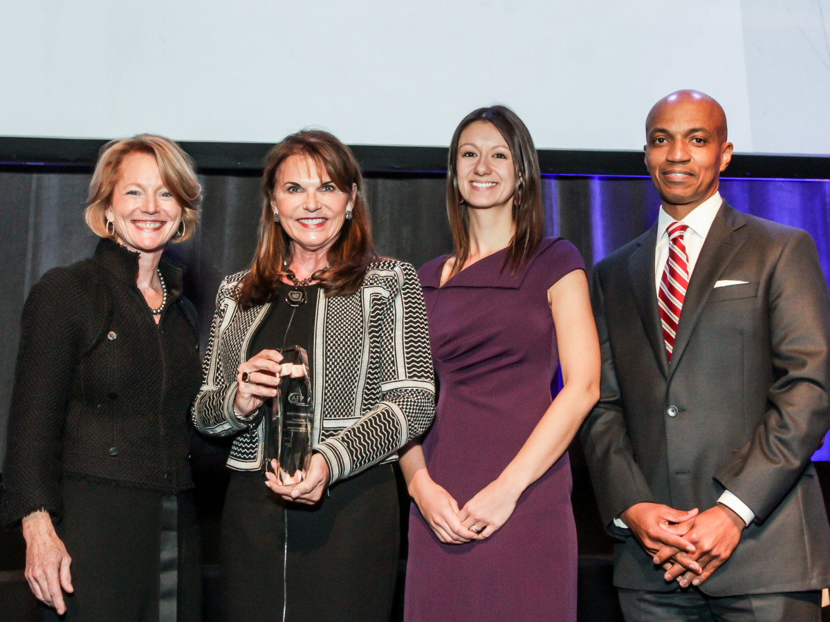 News, National Philanthropy Day Awards, Dec. 2015, Trish Morille, Susan McEldoon, Melissa Gilbert, Dale Lockett