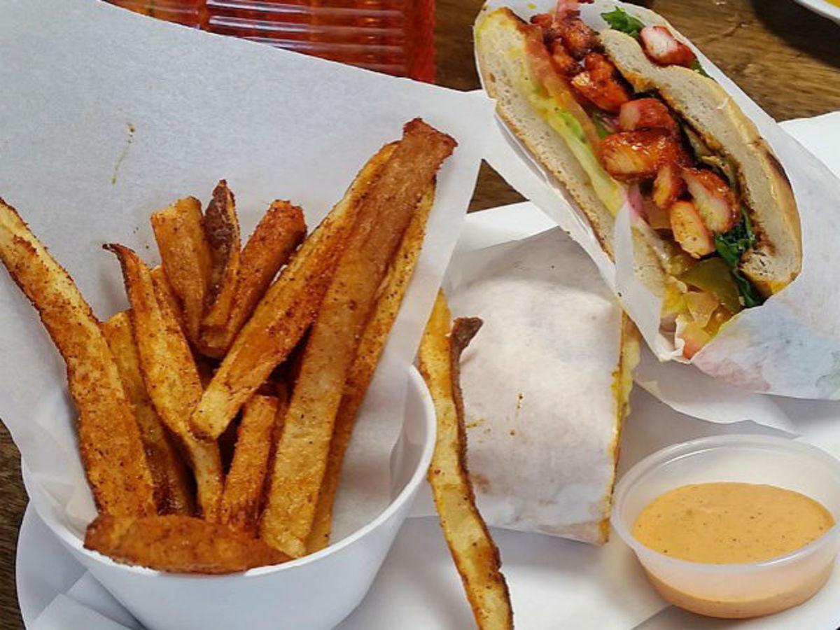 Latin Deli chicken sandwich