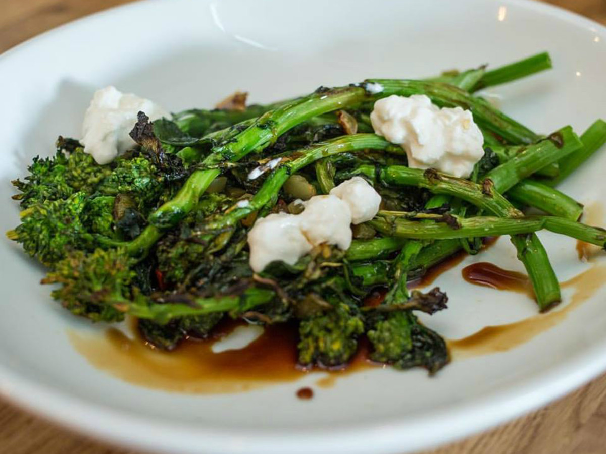 Unit D Pizzeria broccoli rabe dish 2015