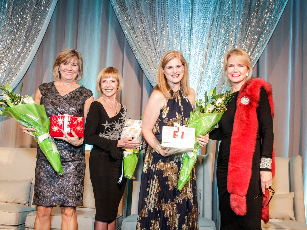 News, Greater Houston Women's Chamber of Commerce Gala, Dec. 2015, Cindy Taylor, Dr. Elizabeth Travis, Gindi Vincent, Suzan Deison