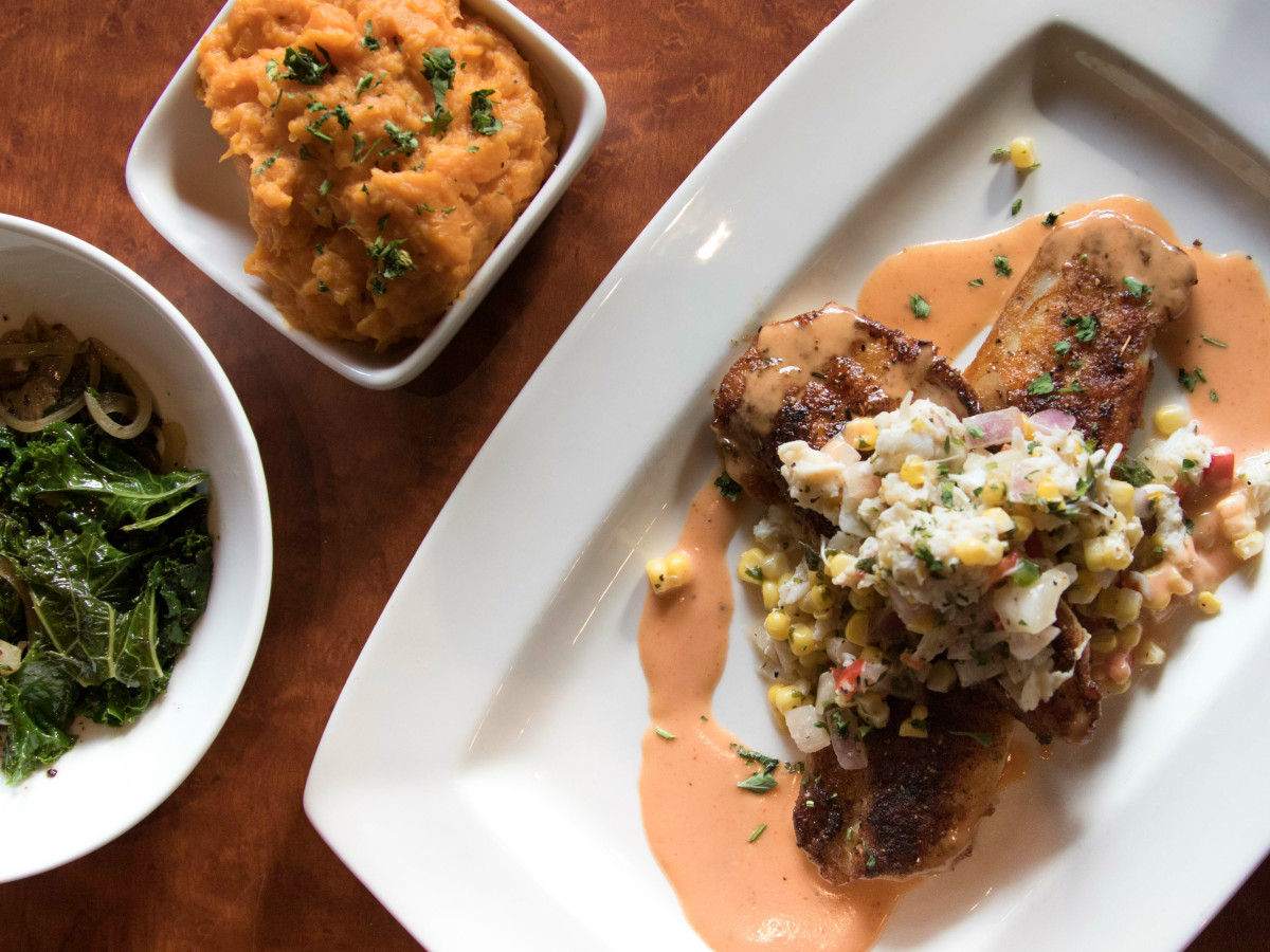 Revival Public House redfish dish sides 2015