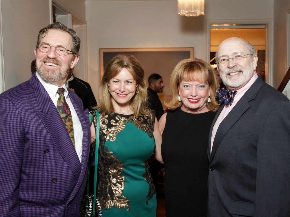 News, Legacy Holiday Schmooze, Dec. 2015, David Groover, Cheryl Byington, Karen Wildenstein, C.C. Conner