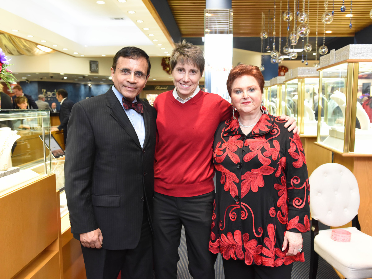 News, Zadoks Holiday Party, Dec. 2015, Dror Zadok, Salise Shuttlesworth, Helene Zadok