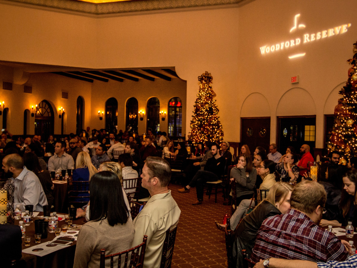 Woodford Reserve event Houston crowd at The Parador