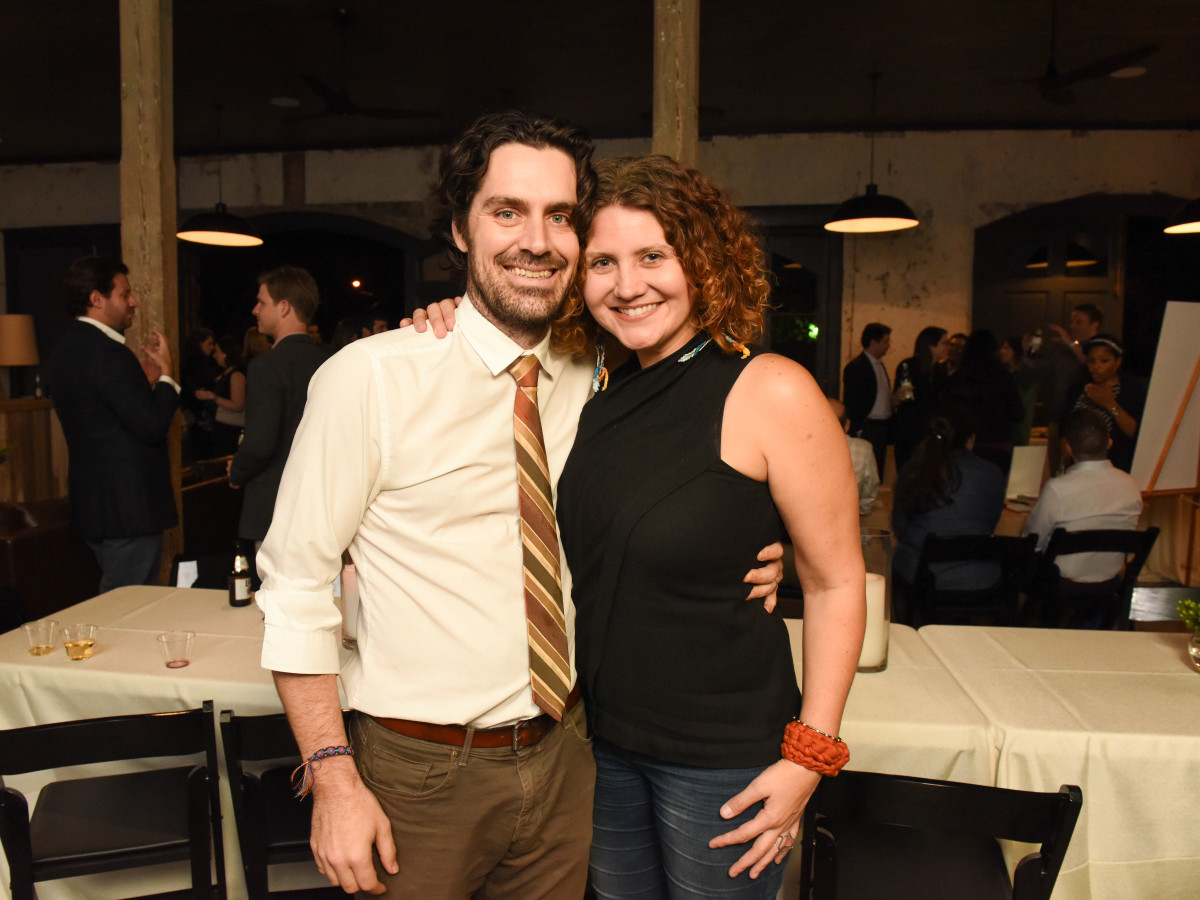 News, Pier & Beam party, Dec. 2015, Matthew Wettergreen, Claudia Solis.