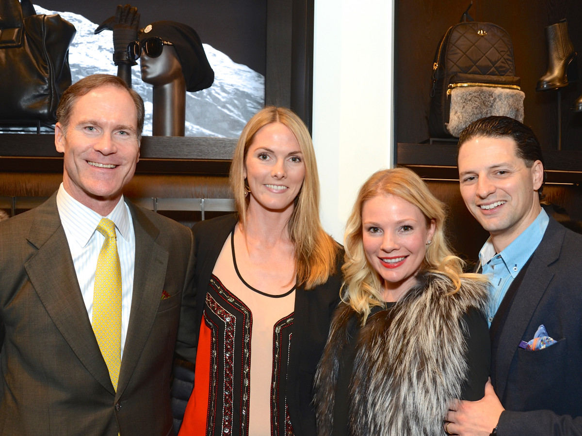 News, Moncler opening, Dec. 2015, James Bell, Emmelie Kopp, Jessica Simon and Dr. Jose Simon