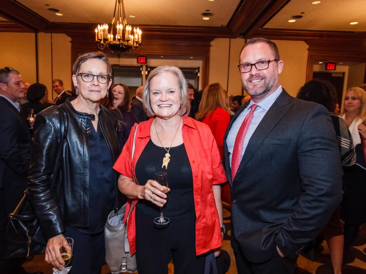 World AIDS Day luncheon Gretchen Diesel, Elaine McAnelly, Roger Sekol