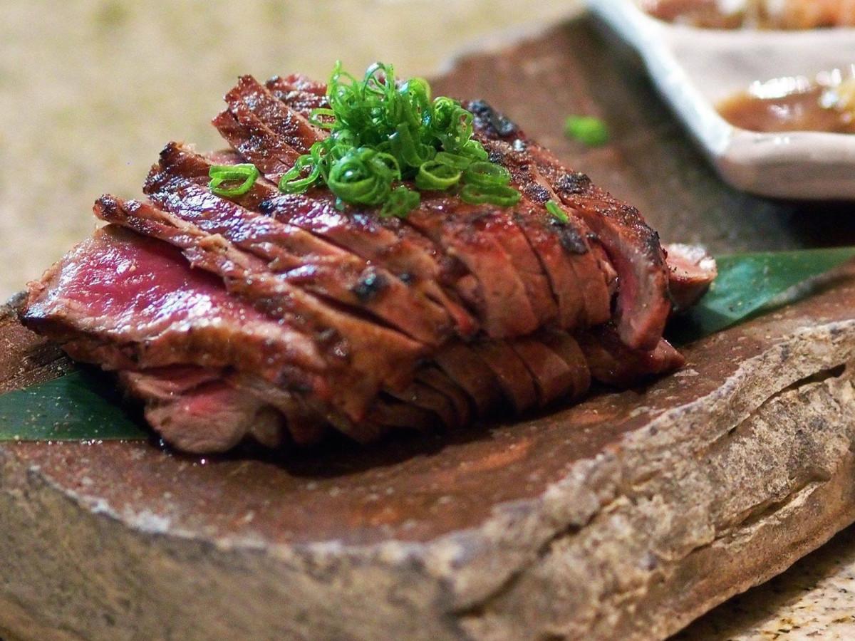 Roka Akor steak sushi