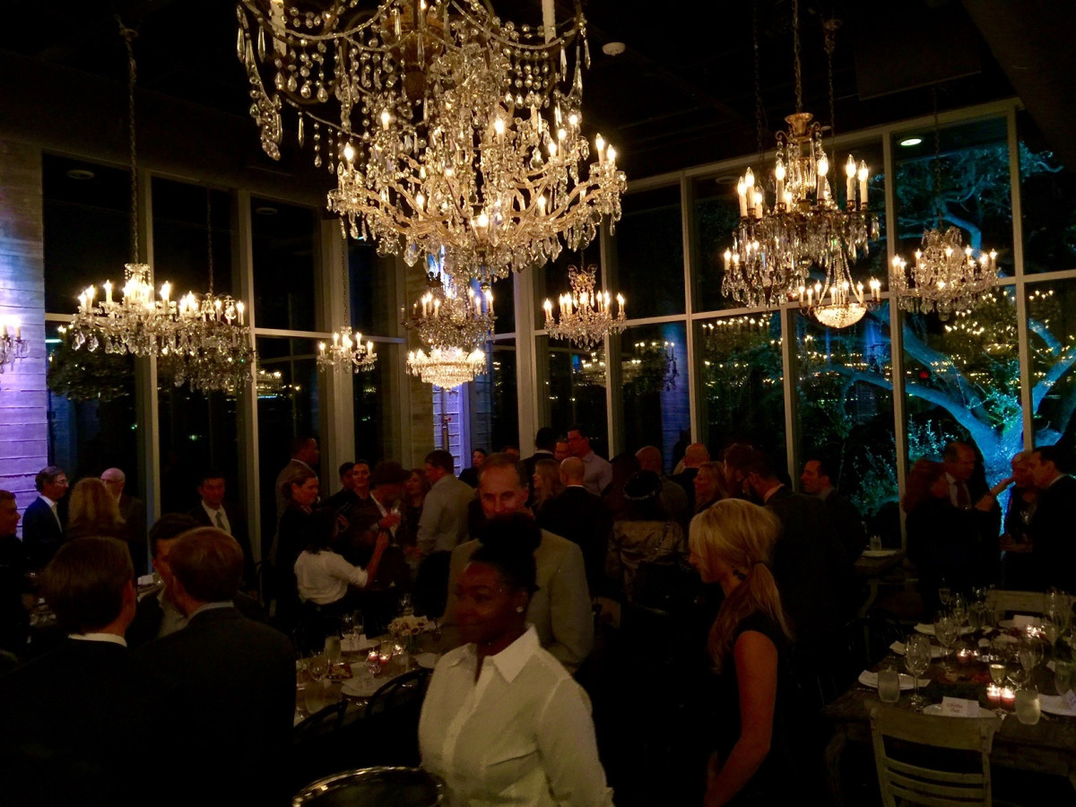 News, Equinox Opening Dinner, Dec. 2015, chandeliers
