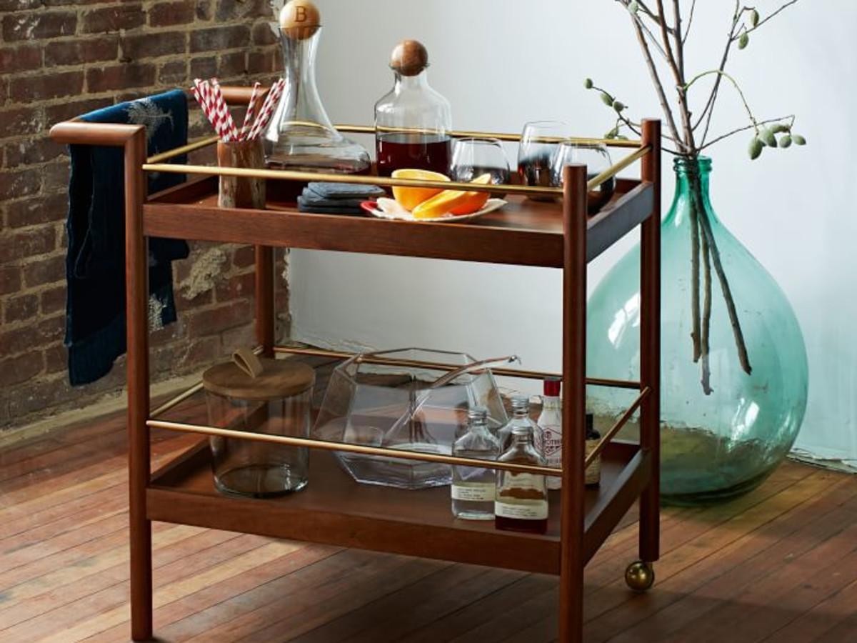 West Elm bar cart sustainably produced
