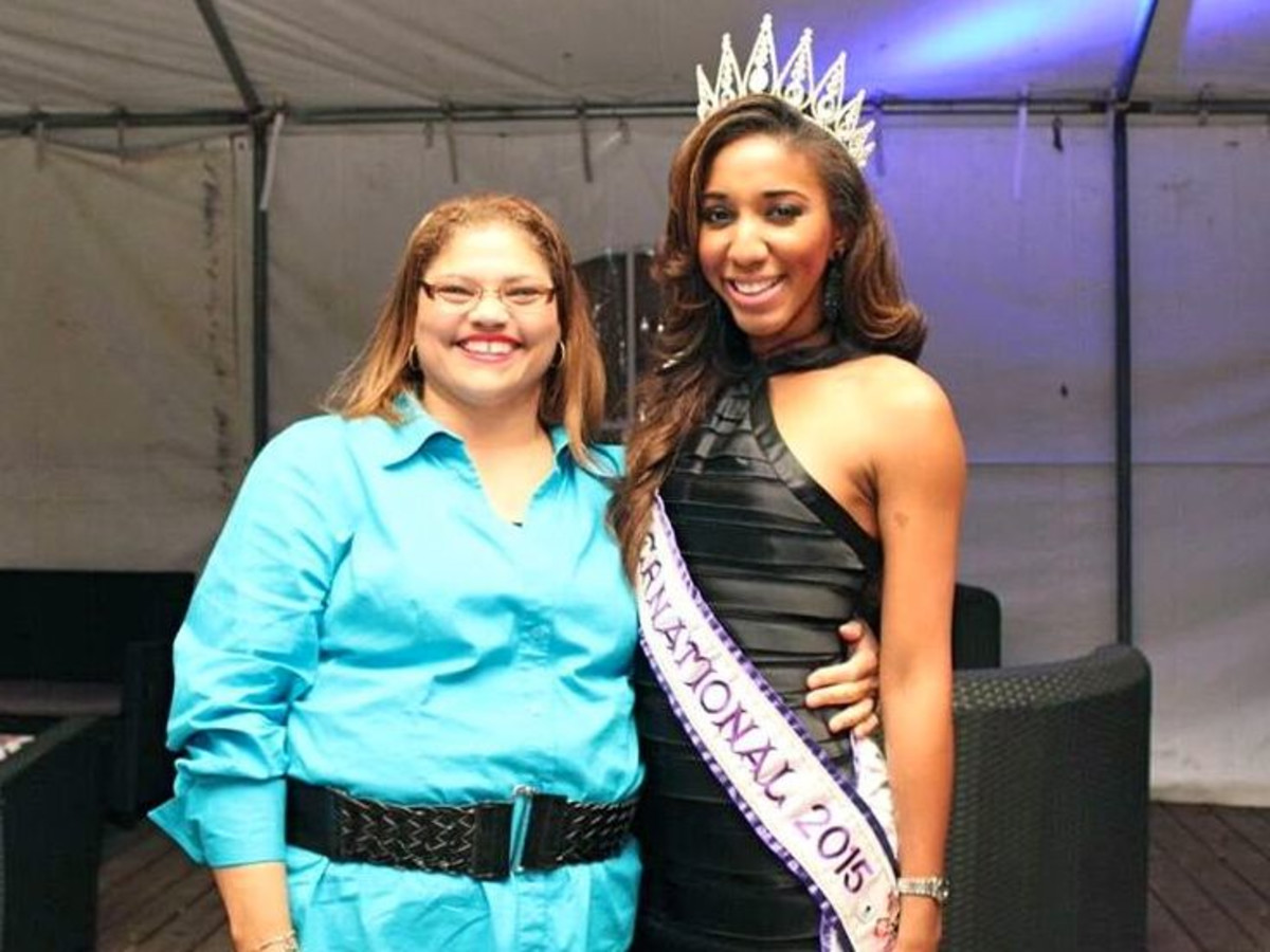 Beat the Blues Crisis Intervention Sylvia LeBlanc and Miss International 2015 Elise Banks