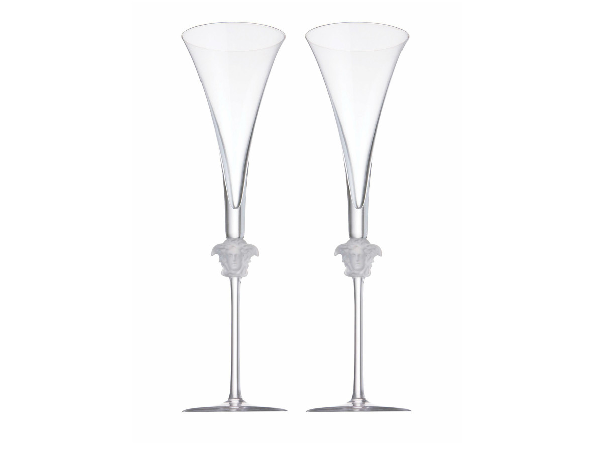 Versace Medusa Lumière GB champagne flutes
