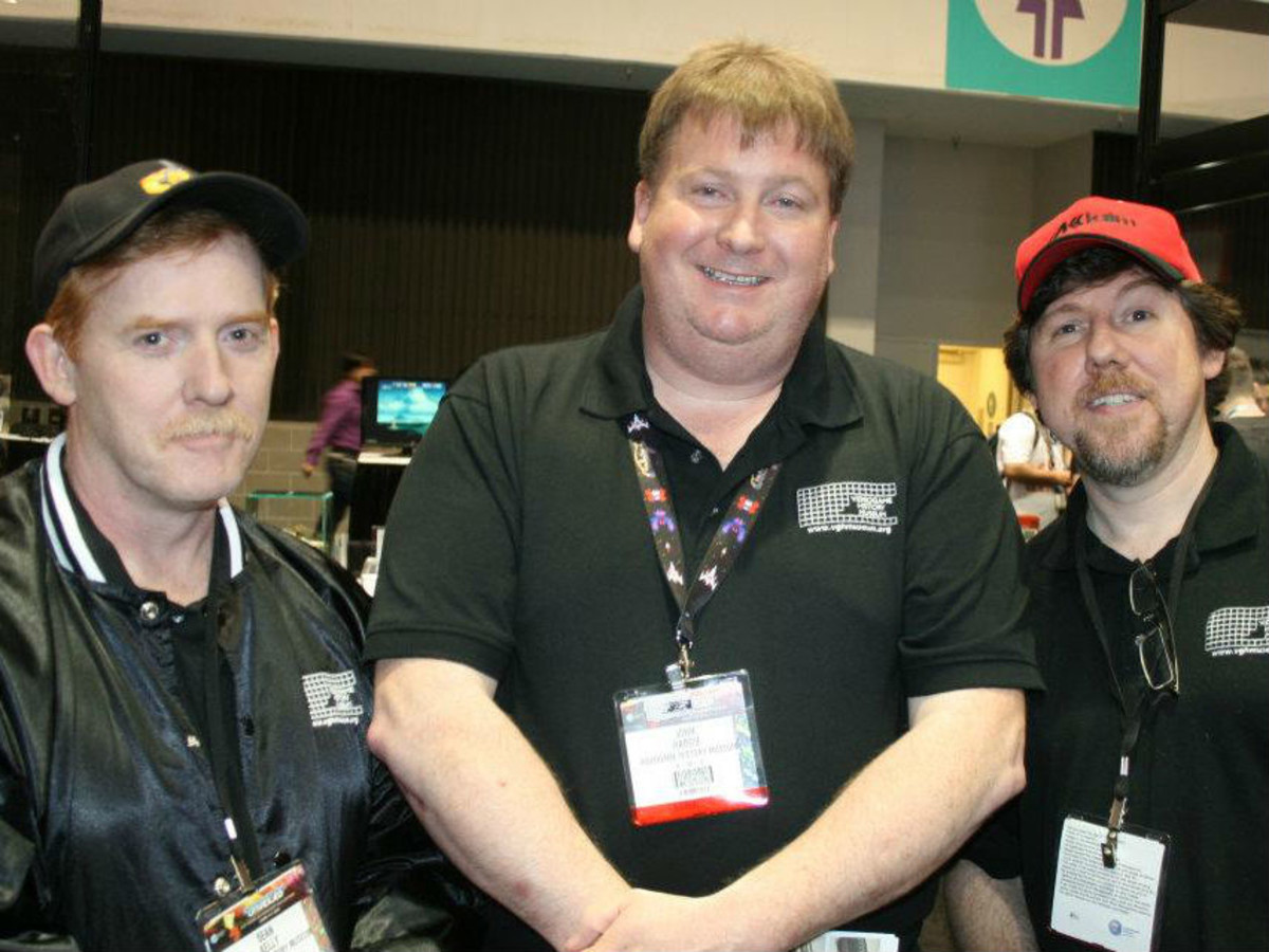 Sean Kelly, John Hardie, and Joe Santulli from the National Videogame Museum