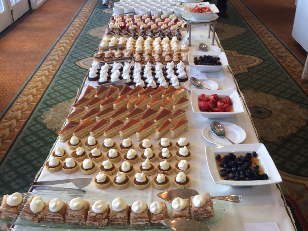 Desserts at Hotel Galvez Sunday brunch