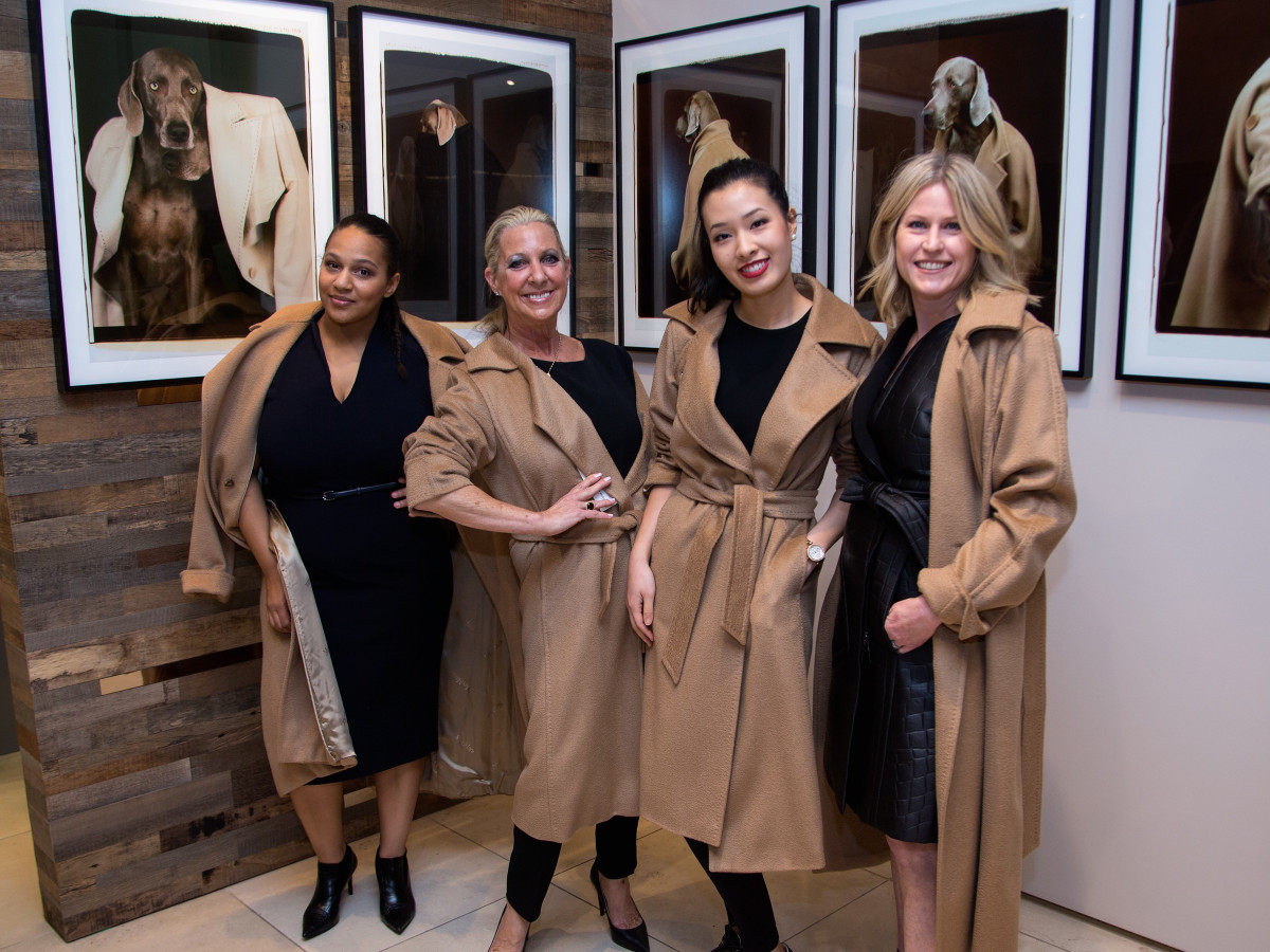Max Mara William Wegman event Kate Grayson, Lora Chivers, Kimberly Luu, Kelly Kavaler