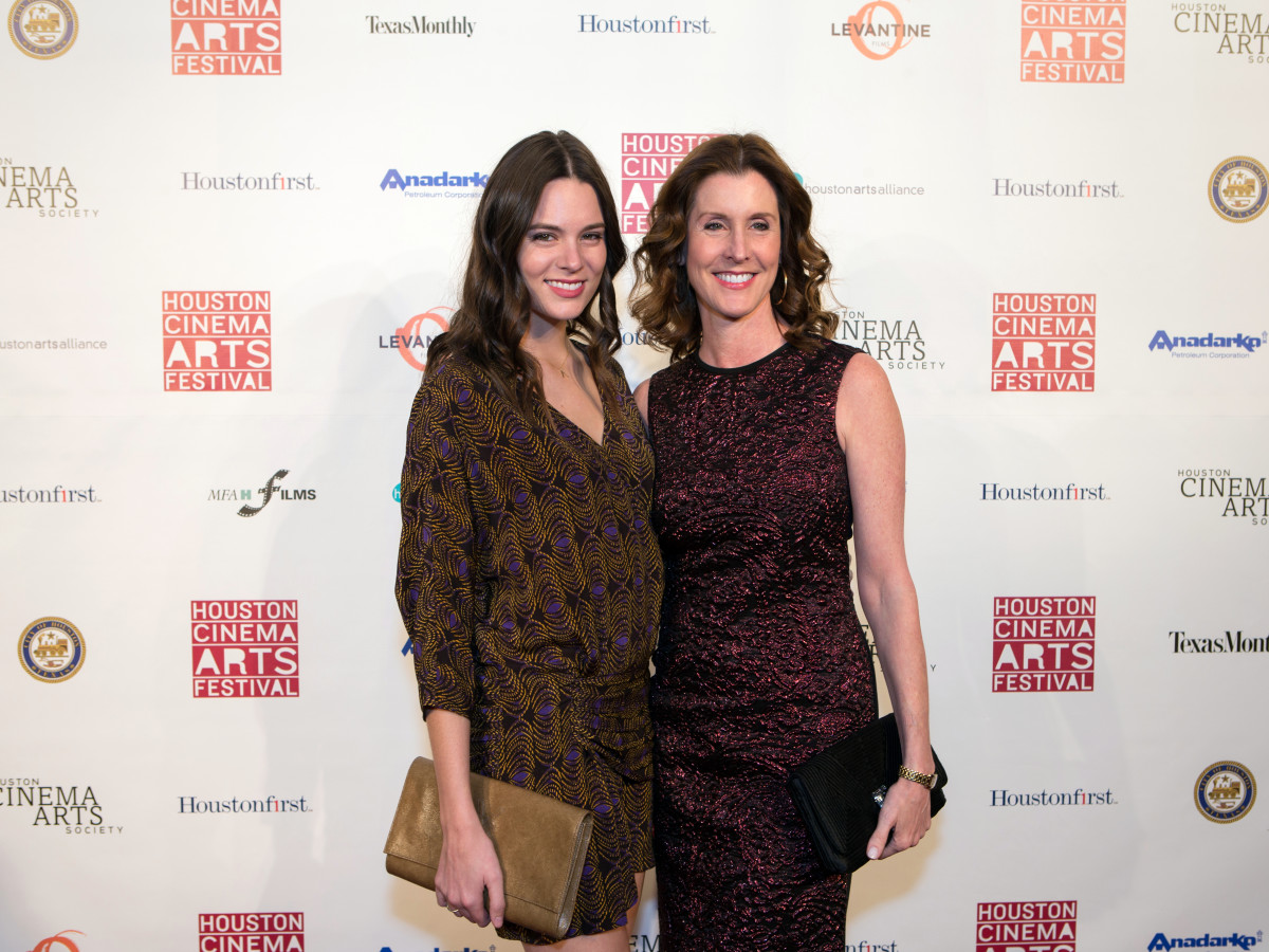 Houston, Cinema Arts Fest opening night, November 2015, Caroline Tudor, Phoebe Tudor