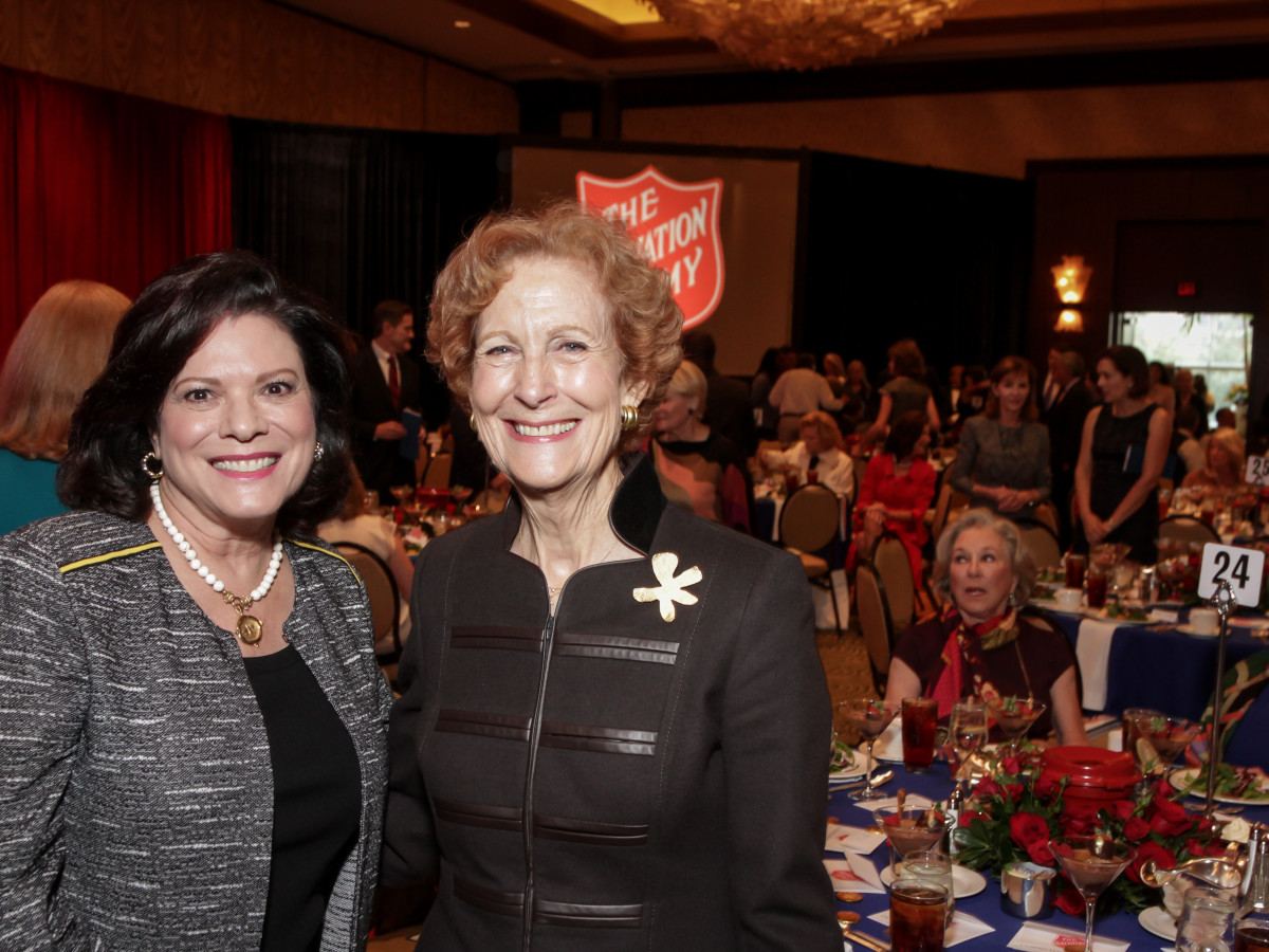 News, Shelby, Salvation Army luncheon, Nov. 2015, Sara Jennings, Susan Baker