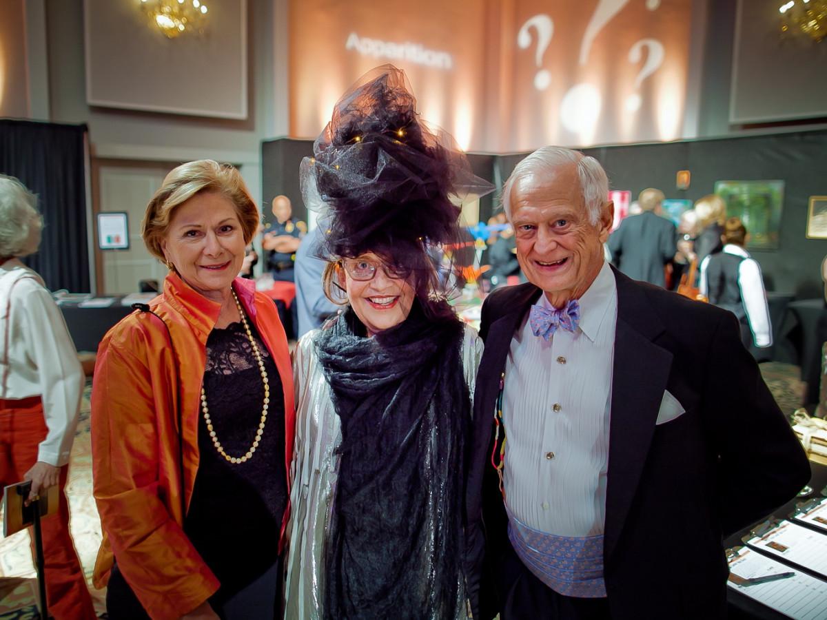 Orange Show Gala Anne Moriniere, Marilyn Oshman, Jack Moriniere