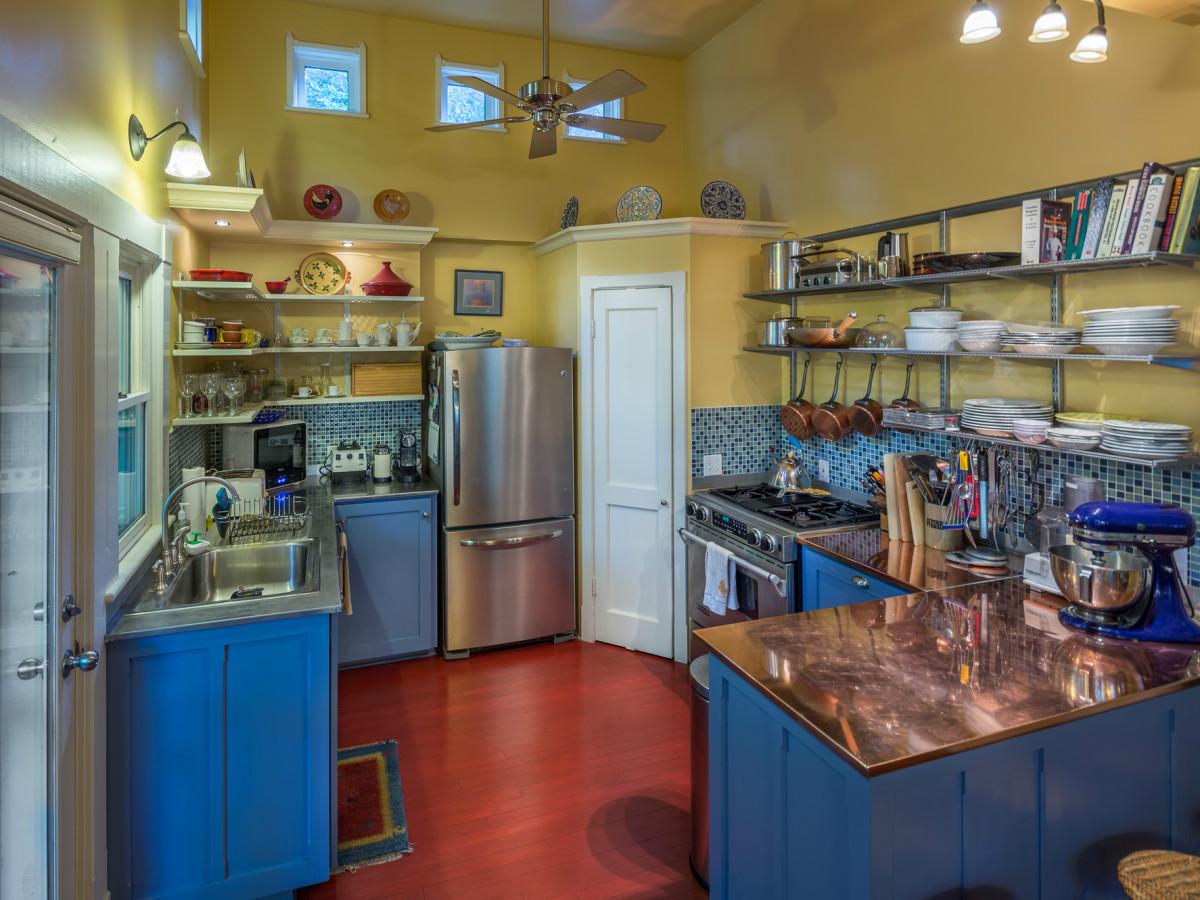 Historic Hyde Park Homes Tour 2015 Avenue A folk victorian cottage house interior kitchen