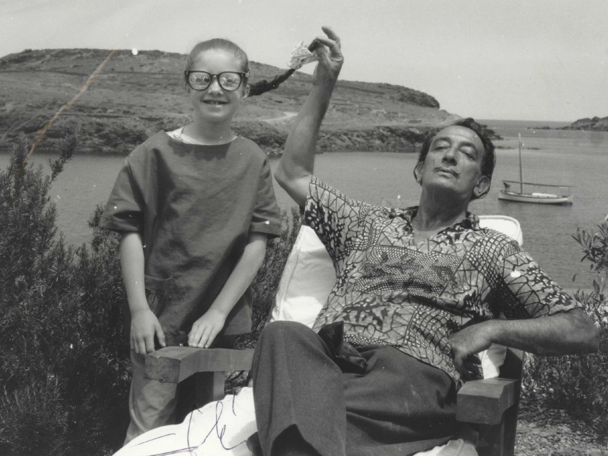 Salvador Dali and Christine Argillet